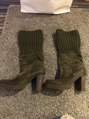 Kennel und Schmenger Korte laarzen bos Groen-donkergroen Leer
