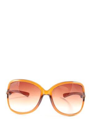 Kenneth Cole Lunettes de soleil angulaires orange clair élégant