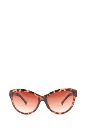 Kenneth Cole Lunettes de soleil ovales orange clair-brun élégant