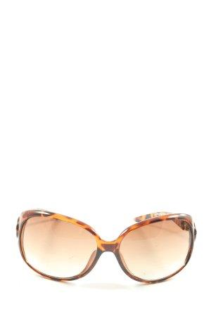 Kenneth Cole Gafas de sol redondas marrón-naranja claro look casual