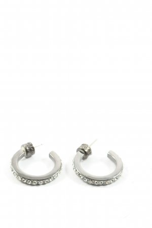Kenneth Cole Statement Earrings silver-colored elegant
