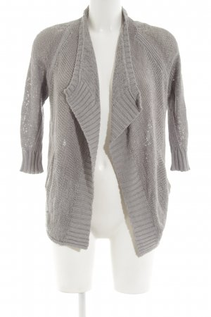 Kenneth Cole Strickjacke hellgrau Zopfmuster Casual-Look