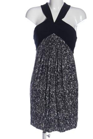 Kenneth Cole Trägerkleid schwarz-weiß Motivdruck Casual-Look