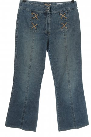 Kenny S. 7/8 Jeans blau-braun Casual-Look