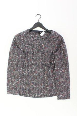 Kenny S. Bluse Größe 40 blumen grau aus Baumwolle