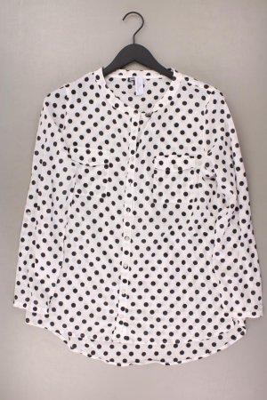 Kenny S. Bluse Größe 42 gepunktet weiß aus Baumwolle