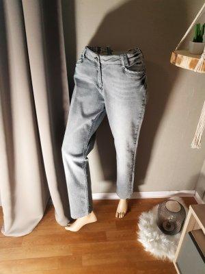 Kenny S. High Waist Jeans dark grey cotton