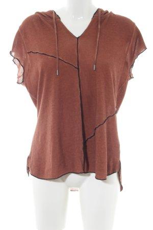 Kenny S. Top à capuche brun style décontracté