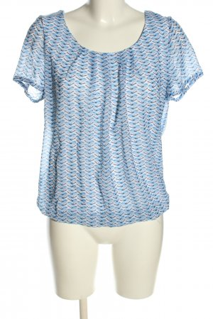 Kenny S. Kurzarm-Bluse abstraktes Muster Casual-Look