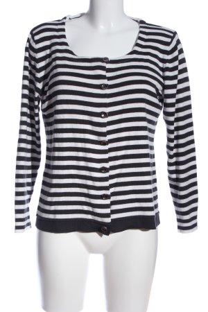 Kenny S. Langarm-Bluse schwarz-weiß Streifenmuster Casual-Look