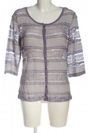 Kenny S. Langarm-Bluse lila Mustermix Casual-Look