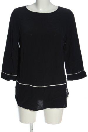 Kenny S. Langarm-Bluse schwarz-weiß Casual-Look