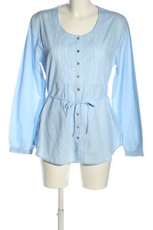 Kenny S. Langarm-Bluse blau Casual-Look