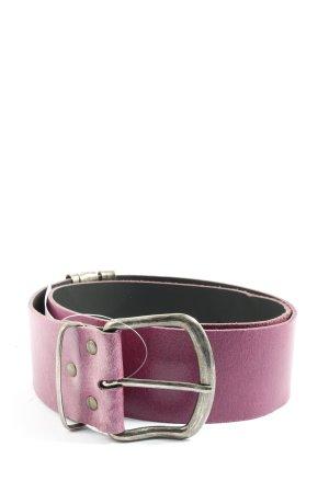 Kenny S. Cinturón de cuero lila estilo «business»