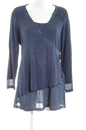 Kenny S. Longshirt blau Casual-Look