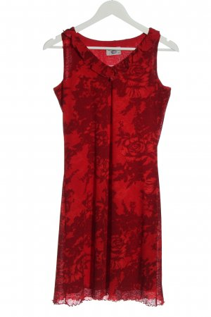 Kenny S. Minikleid rot Allover-Druck Casual-Look