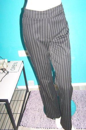 Kenny S. Pantalón anchos negro-blanco Viscosa