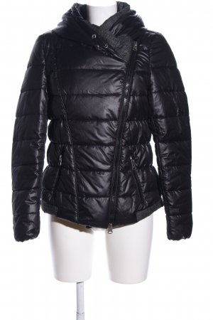 Kenny S. Steppjacke schwarz Steppmuster Casual-Look
