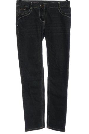 Kenny S. Jeansy z prostymi nogawkami czarny W stylu casual
