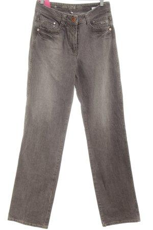 Kenny S. Jeansy z prostymi nogawkami jasnoszary W stylu casual