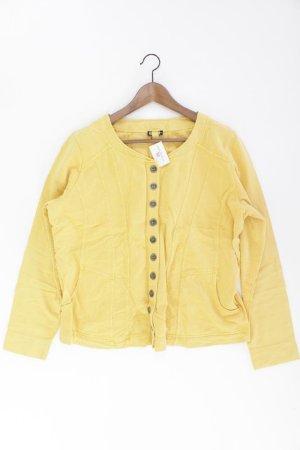 Kenny S. Strickjacke Größe 44 Langarm gelb aus Baumwolle