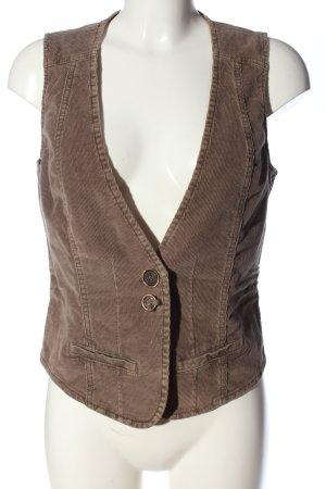 Kenny S. Gilet de costume brun style décontracté