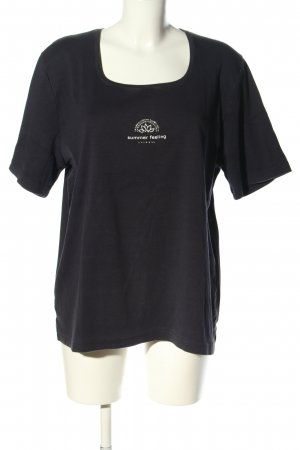 Kenny S. T-Shirt black themed print casual look
