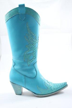 Kentucky Western Western Booties blue elegant