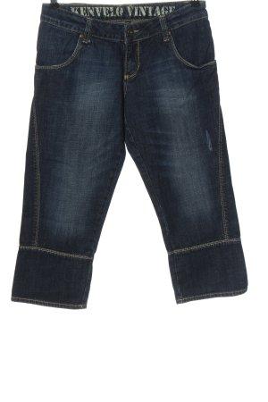 Kenvelo Jeans a 3/4 blu stile casual