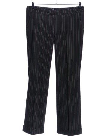 Kenvelo Anzughose schwarz-weiß Streifenmuster Business-Look
