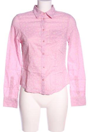 Kenvelo Camicia a maniche lunghe rosa stampa integrale stile casual