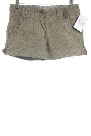 Kenvelo Shorts olivgrün-grüngrau Karomuster Casual-Look
