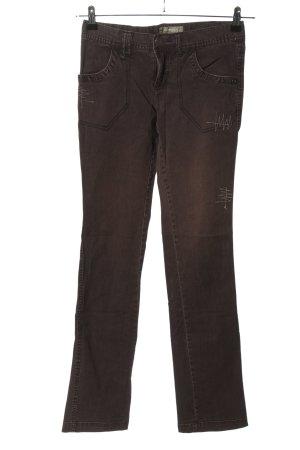 Kenvelo Jeans slim fit marrone stile casual