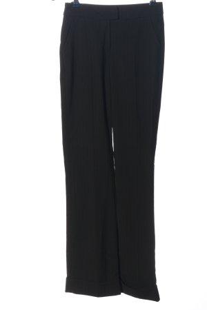 Kenvelo Pantalone jersey nero motivo a righe stile professionale