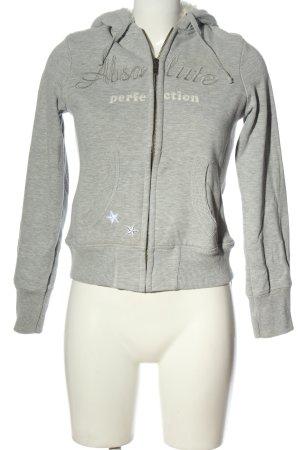 Kenvelo Giacca fitness grigio chiaro puntinato stile casual