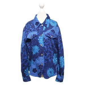 Kenzo Blazer en jean bleu-blanc coton