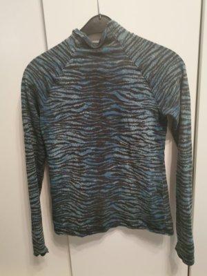 Kenzo H&M Haut col roulé noir-bleu acier