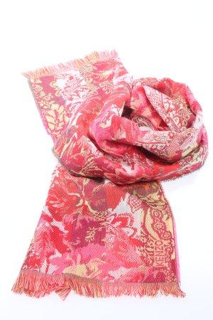Kenzo Fringed Scarf flower pattern casual look
