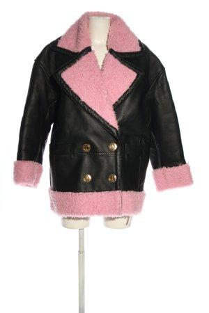 Kenzo H&M Chaqueta de cuero de imitación negro-rosa look casual
