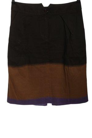Kenzo High Waist Rock schwarz-braun Farbverlauf Casual-Look