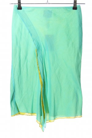 kenzo jungle Asymmetry Skirt turquoise casual look