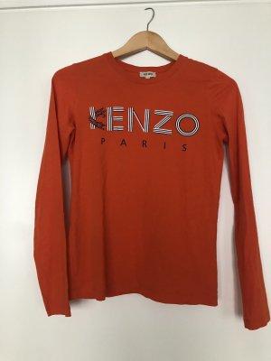 Kenzo Longsleeve mit Print in Orange