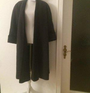 Kenzo Mantel Vintage Wolle Samt Velvet grau dunkelgrau Schulterpolster