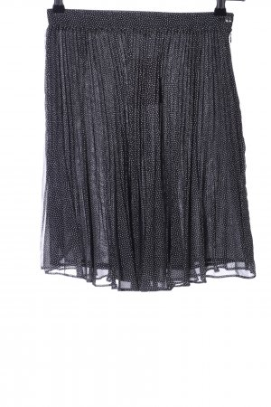 Kenzo Jupe plissée noir-blanc imprimé allover style décontracté
