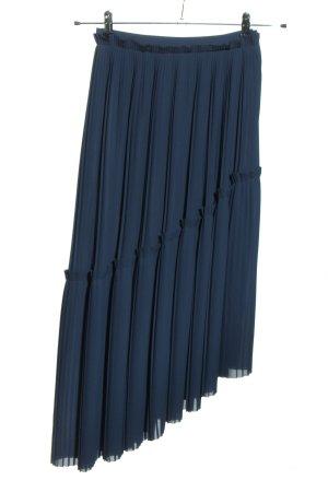 Kenzo Plisseerock blau Casual-Look