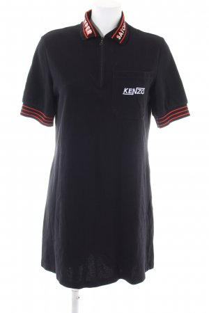 Kenzo Polo Dress black-red casual look