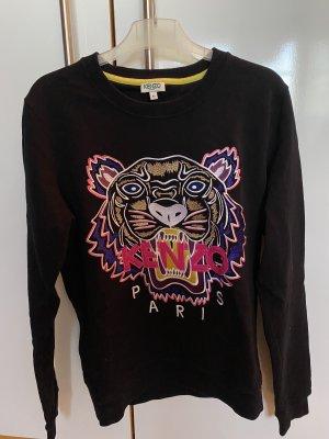 Kenzo Sweter z okrągłym dekoltem czarny-różowy
