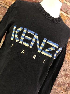 KENZO Pullover Strickpullover XS 34 schwarz Logo
