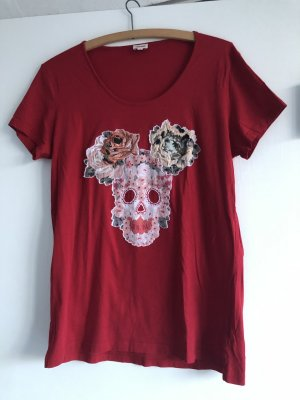 Kenzo rotes Shirt mit aufgenähtem Kopf