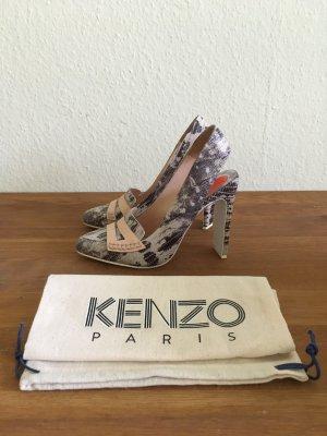 Kenzo Slingback Pumps multicolored leather